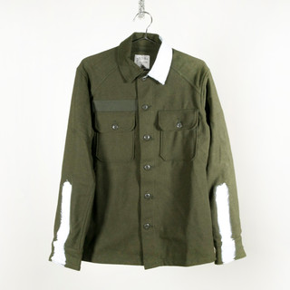 Wool Painted Army Shirt