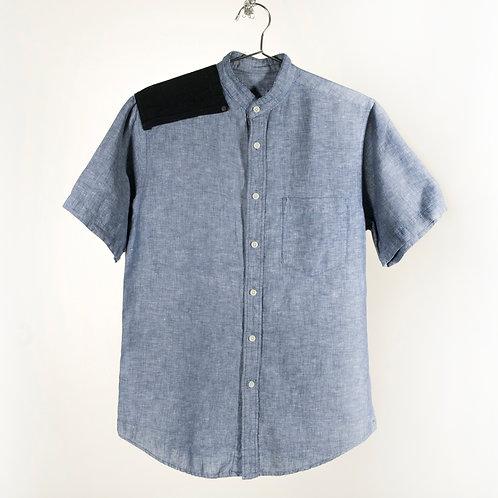 Patch Shoulder No Collar Shirt
