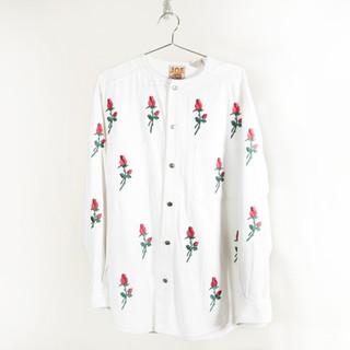 Rose White Denim Jacket