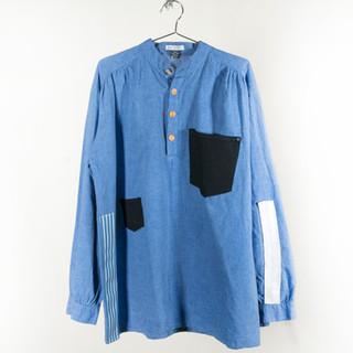 Oversized Patchwork Shirt