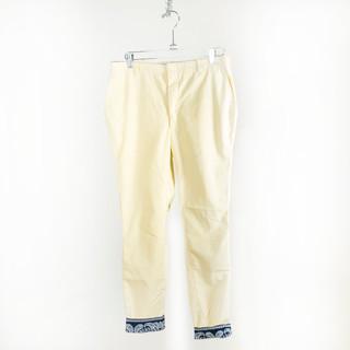 Yellow Bandana Cuff Pants