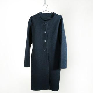 No Collar Coat (Wool)