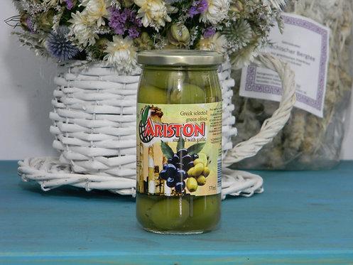 Oliwki zielone z czosnkiem
