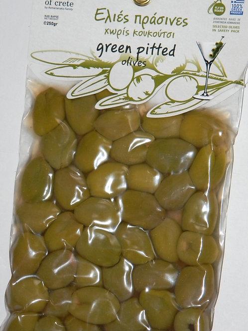 Oliwki zielone pakowane próżniowo bez pestki 250g