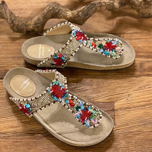 Maliparmi beaded sandals Multicolor