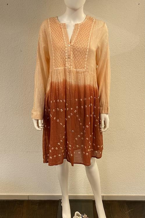 Kleid im Tunika-Stil  mit Farbverlauf