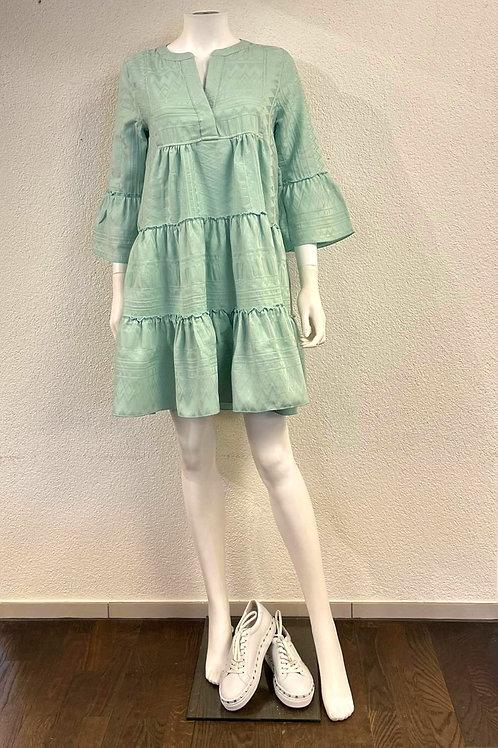 Einfarbiges Kleid Ethno