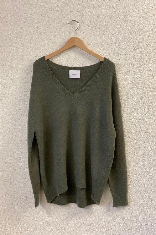 Pullover V-Neck Salbei