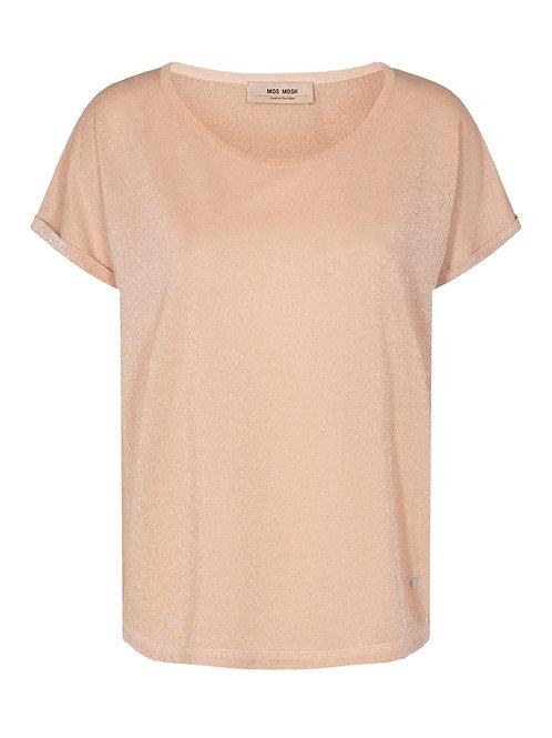 T-Shirt mit leichtem Glanz