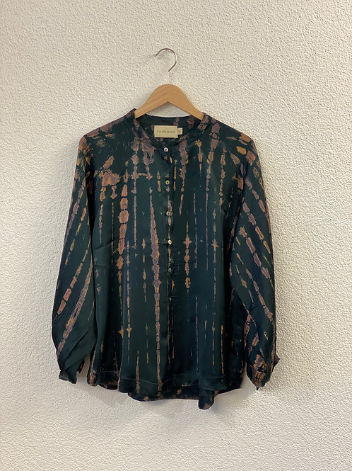 Bluse Batik Schwarz
