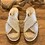 Thumbnail: Pantoletten Espadrij mit Plateausohle