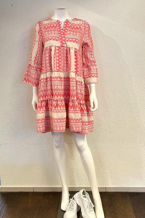 Zweifarbiges Kleid Ethno