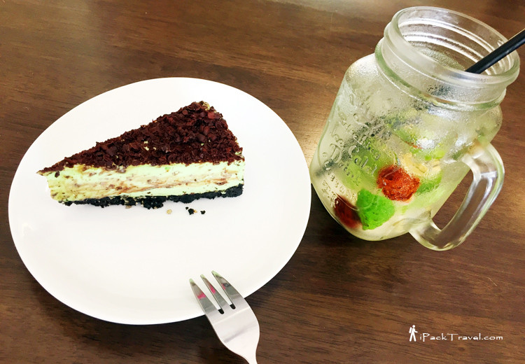 Lime & Lemongrass and peppermint cheesecake