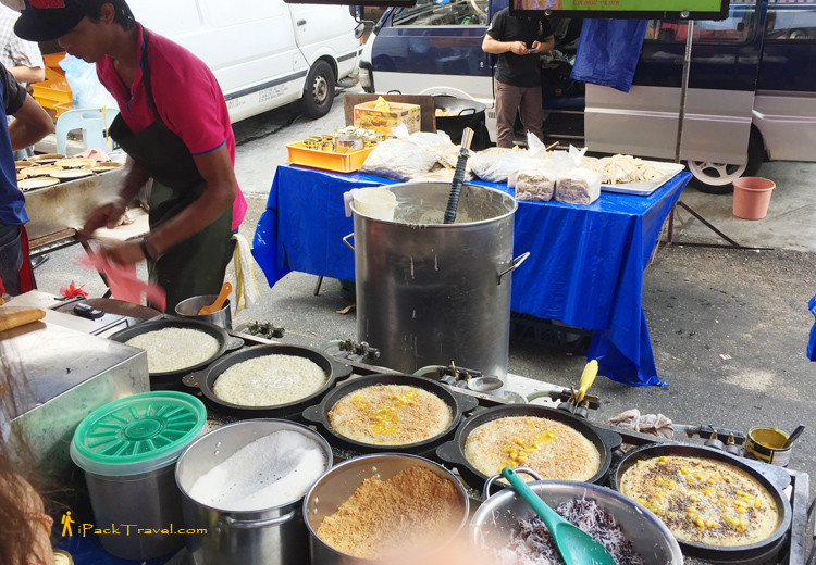 Stall selling pancakes