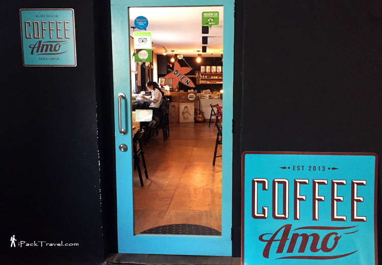 Entry door to Coffee Amos