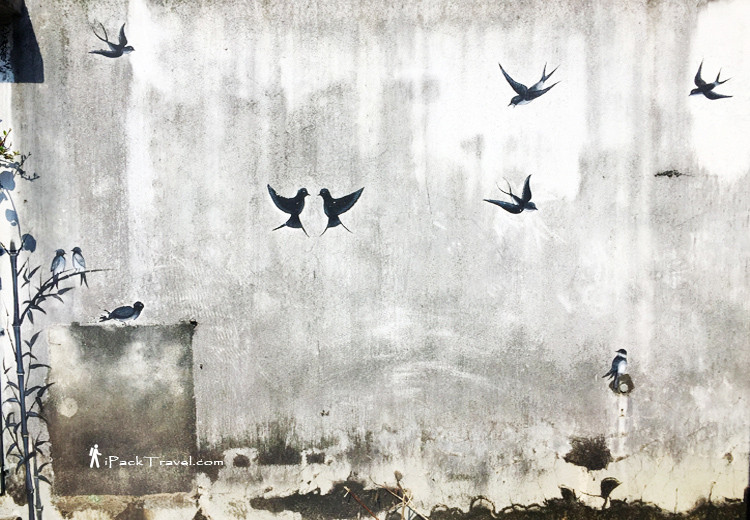 Flying swallows in Swallow Alley