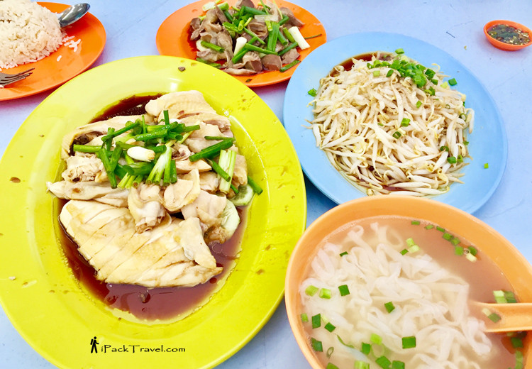 Steamed chicken, beansprouts, Ipoh hor fun