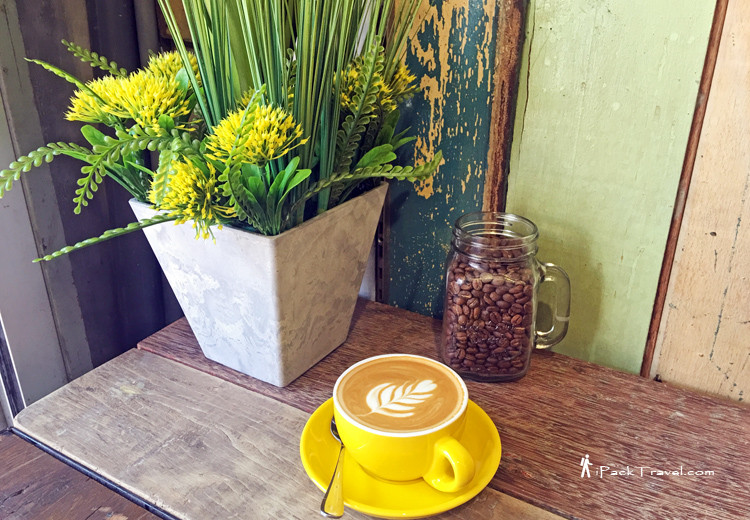 Coffee with rustic background