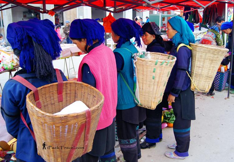 Hani ladies with baskets