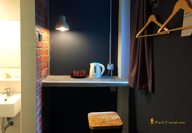 Pantry in a corner