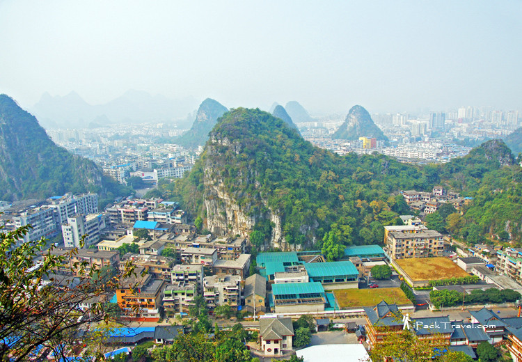 Mountains in sea of buildings