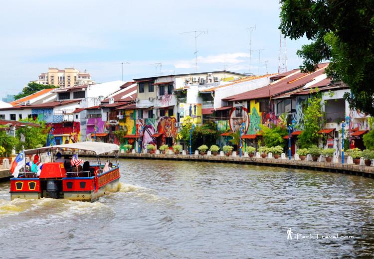 Murals along River