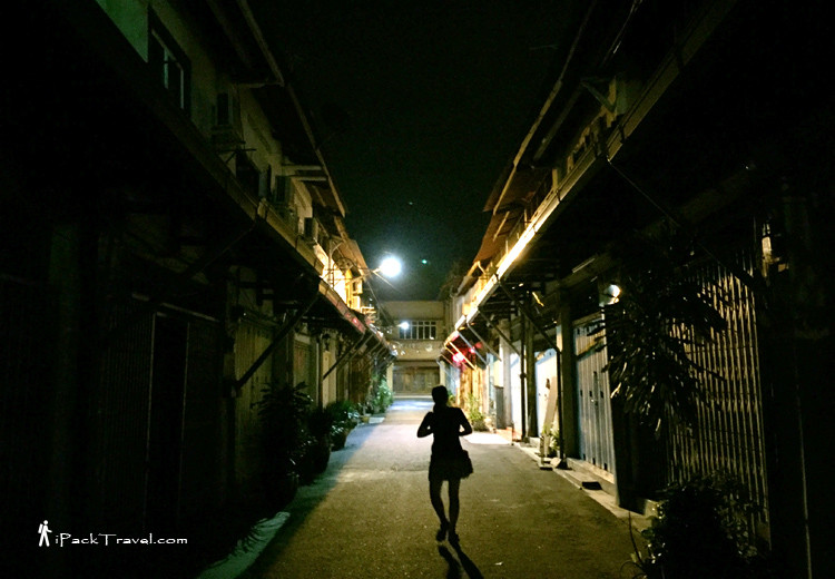 Walking alone at night