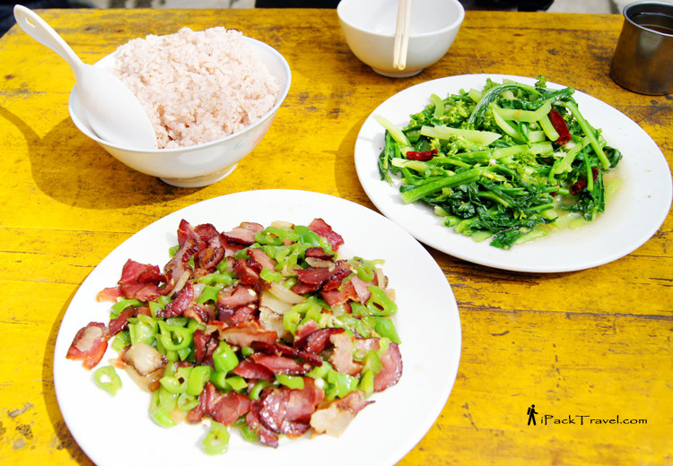 A meal of Yuanyang's local produce