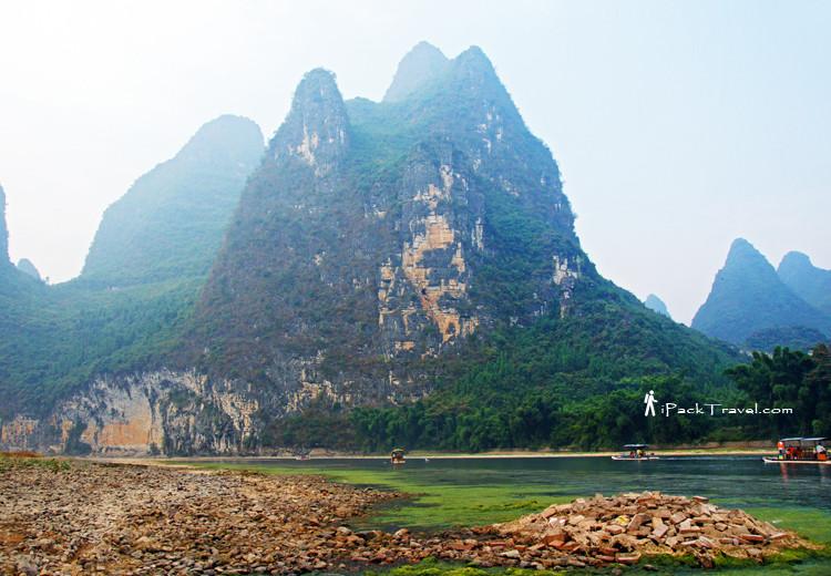Scenic spots along river