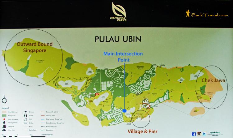 map of pulau ubin