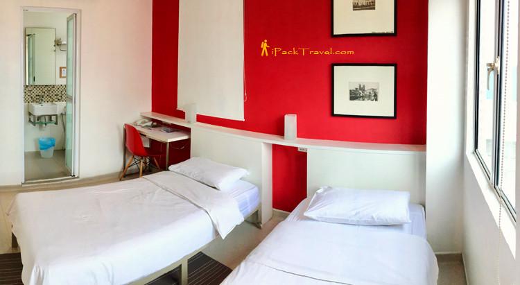 Hangout@Jonker twin-bed room