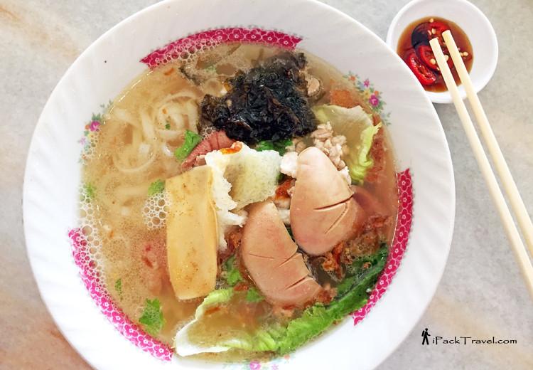 Ah Hua Kueh Teow noodle soup