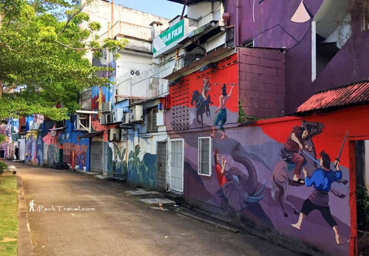 Murals opposite ferris wheel