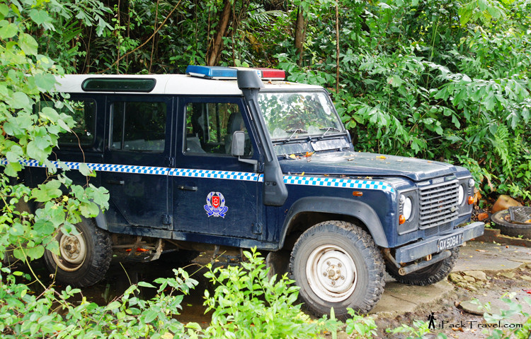 Old police jeep