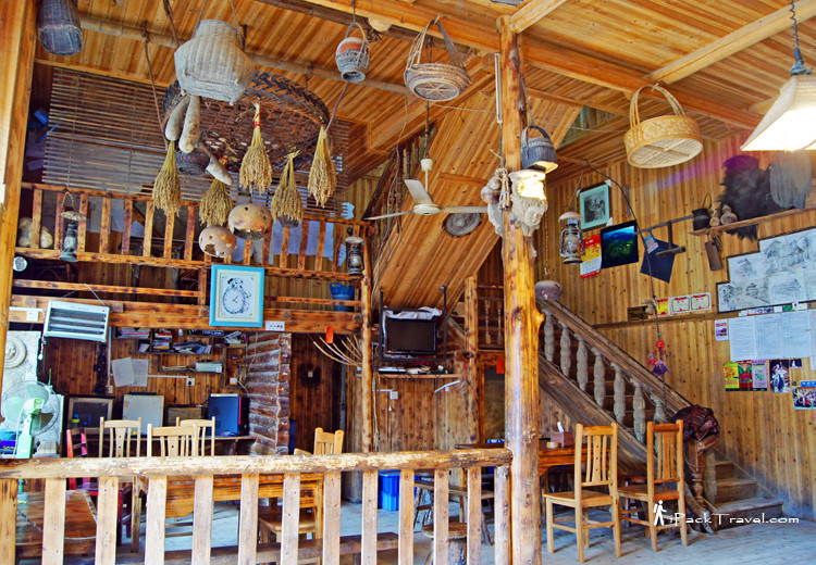 Interior view of Long Feng Inn