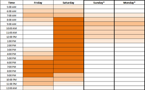 SG to JB Time Chart (Sunday holiday)