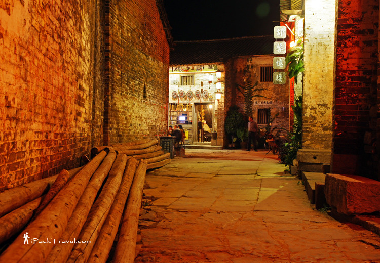 Huangyao Town at night