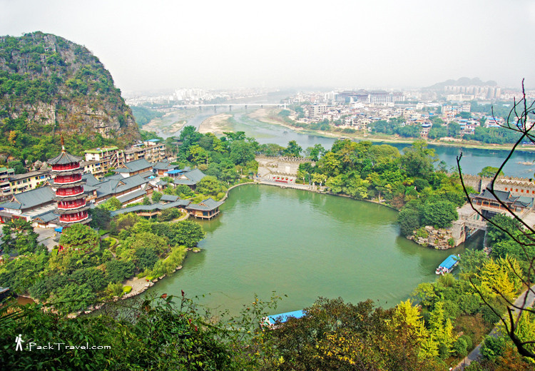 Whole view of Mulong Lake (木龙湖)