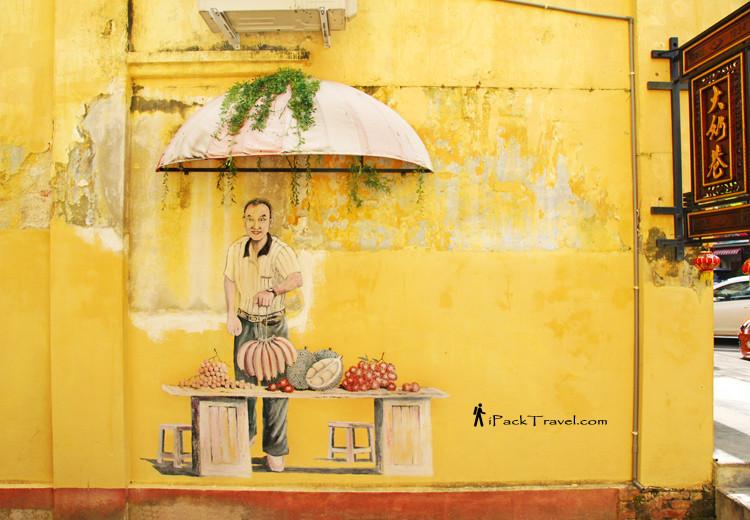 Fruit seller mural