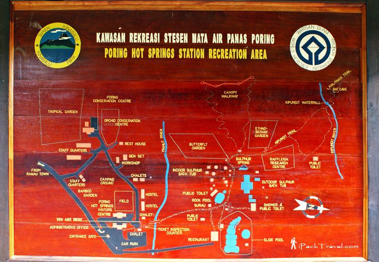 Map of Poring Hot Springs