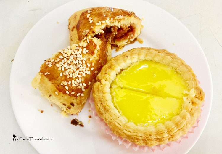 Roasted pork pastry & egg tart
