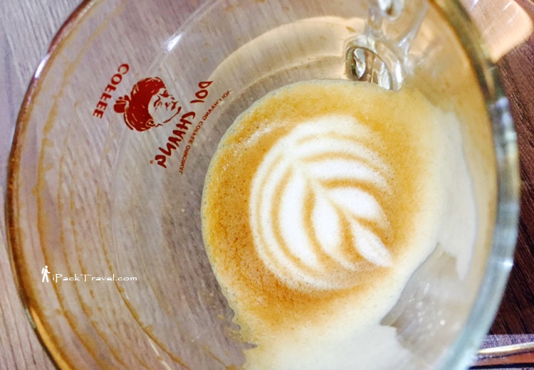 Coffee art remains after finishing drink