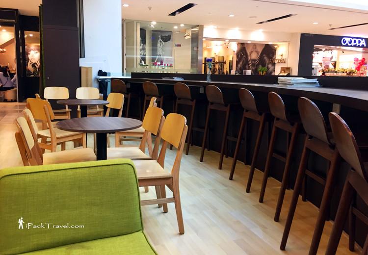 Open concept cafe