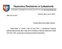 Nagrody Starostwo Lubartowskie