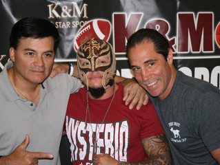 K&M All Star Sports Welcomed Rey Mysterio!