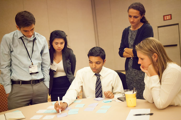 Health Entrepreneurs and Doctor Brainstorming