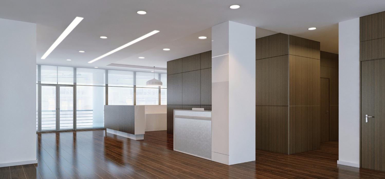 תאורה שקועה לכניסה למשרדים