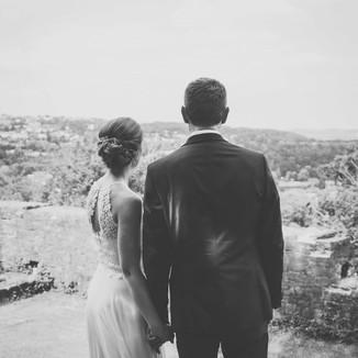 Hochzeitsfotos auf Burg Blankenstein