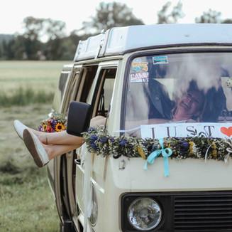 Hochzeitsfotos am Feld in Unna