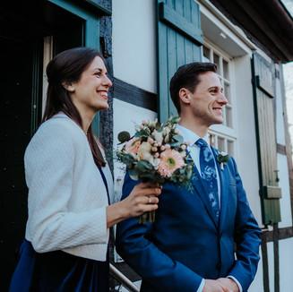 Hochzeitsfotos vor der Schlossmühle Lippholthhausen